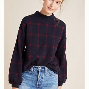 Anthropologie Bonnie Balloon-Sleeved Sweater